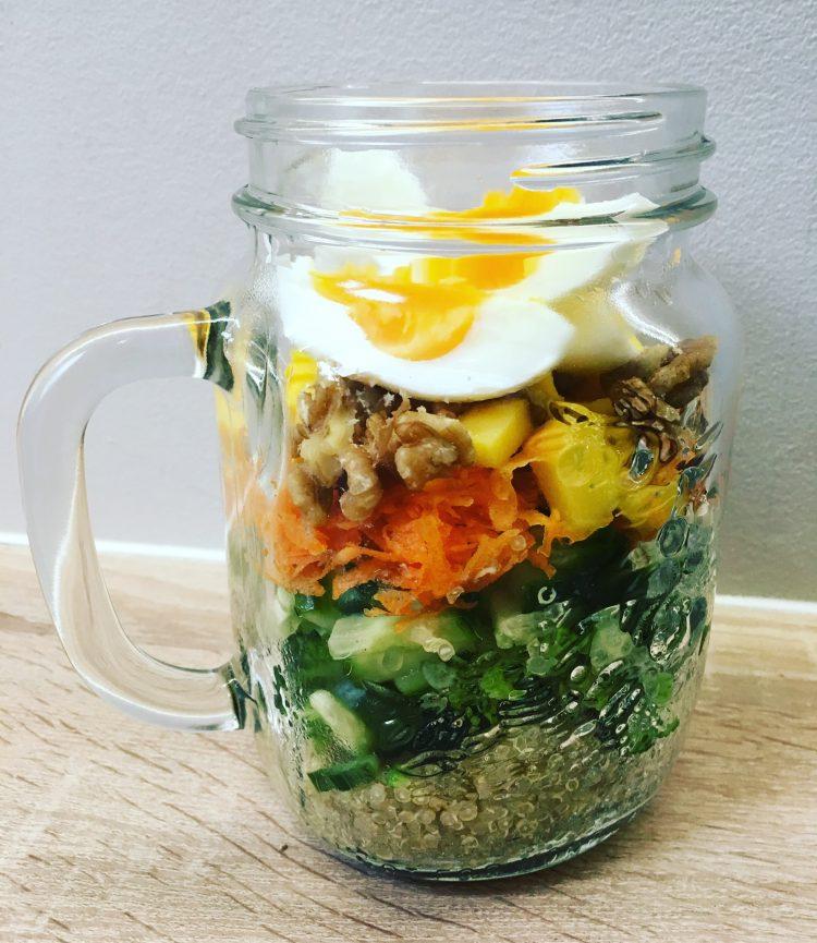 Slaatje van groenten met quinoa of boekweit – Gezonde en lekkere meeneem lunch